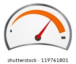 speedometer icon | Shutterstock .eps vector #119761801