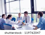 group of happy young  business... | Shutterstock . vector #119762047