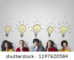 group of people thinking about... | Shutterstock . vector #1197620584