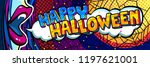 halloween illustration. open... | Shutterstock .eps vector #1197621001