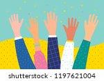 concept of volunteering or... | Shutterstock .eps vector #1197621004