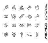 sweet food flat line icons set. ... | Shutterstock .eps vector #1197631867