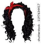 long curly hairs  brunette... | Shutterstock .eps vector #1197634417