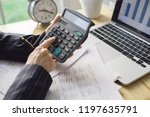 business woman accounting... | Shutterstock . vector #1197635791