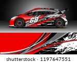 car wrap design vector. graphic ... | Shutterstock .eps vector #1197647551
