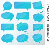 vector stickers thought  speech ... | Shutterstock .eps vector #1197649624