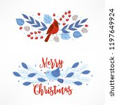 christmas compositions with... | Shutterstock .eps vector #1197649924