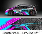 car wrap design vector. graphic ... | Shutterstock .eps vector #1197655624