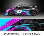 car wrap design vector. graphic ... | Shutterstock .eps vector #1197655627