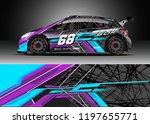 car wrap design vector. graphic ... | Shutterstock .eps vector #1197655771