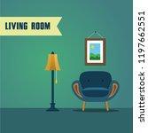 living room furniture | Shutterstock .eps vector #1197662551