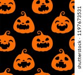 seamless pattern with orange... | Shutterstock .eps vector #1197673531