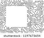 printed circuit board black and ... | Shutterstock .eps vector #1197673654