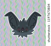 halloween bat smiley head got... | Shutterstock .eps vector #1197673834