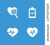 heartbeat icon. collection of 4 ... | Shutterstock .eps vector #1197675424