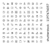 online store flat icon set.... | Shutterstock .eps vector #1197676057