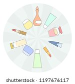 assorted cosmetic products ... | Shutterstock .eps vector #1197676117