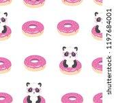 panda pattern  vector ... | Shutterstock .eps vector #1197684001