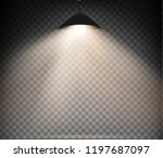 lamps set with warm light on a... | Shutterstock .eps vector #1197687097