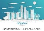 paper cut style singapore city  ...   Shutterstock .eps vector #1197687784