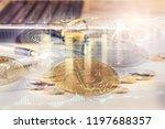 modern way of exchange. bitcoin ... | Shutterstock . vector #1197688357