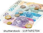 polish zloty banknotes  money ... | Shutterstock . vector #1197692704