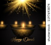 diwali background with oil... | Shutterstock .eps vector #1197693874