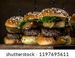close up little hamburger series | Shutterstock . vector #1197695611