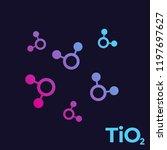 titanium dioxide  tio2 molecules   Shutterstock .eps vector #1197697627
