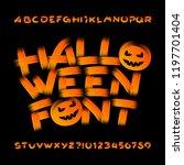 halloween alphabet font....   Shutterstock .eps vector #1197701404