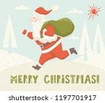 run santa claus bag... | Shutterstock .eps vector #1197701917