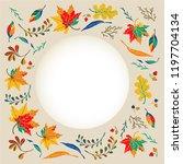 autumn banner  wreath from...   Shutterstock .eps vector #1197704134