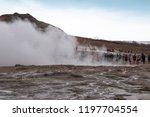 geysir iceland on march 19 ...   Shutterstock . vector #1197704554