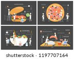 small people in chef uniform... | Shutterstock .eps vector #1197707164