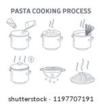 cooking tasty pasta for the... | Shutterstock .eps vector #1197707191