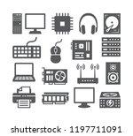 computer icons set | Shutterstock . vector #1197711091