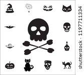 crossbones   death skull ...   Shutterstock . vector #1197711334