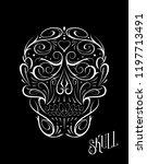 abstract skull shape white... | Shutterstock .eps vector #1197713491