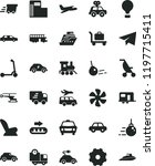 solid black flat icon set truck ... | Shutterstock .eps vector #1197715411