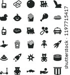 solid black flat icon set baby... | Shutterstock .eps vector #1197715417
