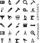 solid black flat icon set... | Shutterstock .eps vector #1197715471
