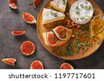 tasty sandwich with ripe fig... | Shutterstock . vector #1197717601