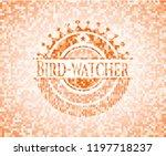 bird watcher abstract orange... | Shutterstock .eps vector #1197718237