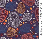 marine seamless pattern with... | Shutterstock .eps vector #1197719134