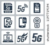 5g or 5th generation mobile...   Shutterstock .eps vector #1197719194