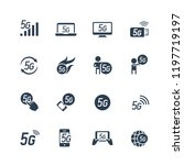5g or 5th generation mobile... | Shutterstock .eps vector #1197719197