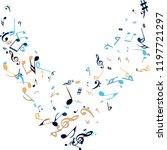musical signs. modern... | Shutterstock .eps vector #1197721297