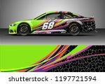 car wrap design vector. graphic ... | Shutterstock .eps vector #1197721594