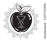 forbidden fruit apple from the... | Shutterstock .eps vector #1197722554