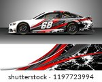 car wrap design vector. graphic ... | Shutterstock .eps vector #1197723994